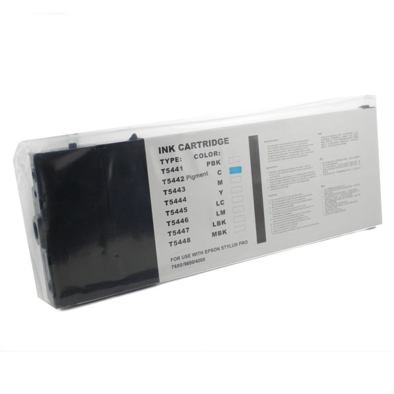 Compatible Epson T544200 Cyan Ink Cartridge Pigment