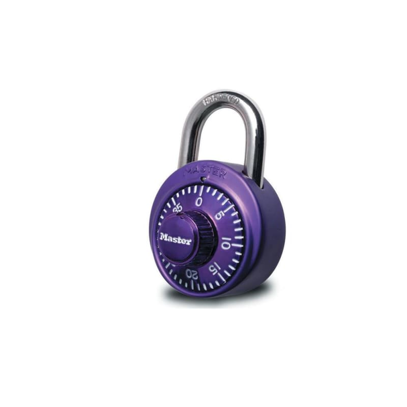 Master Lock® 1530DCM 1-7/8in (48mm) Wide Combination Dial Padlock with Aluminum Cover