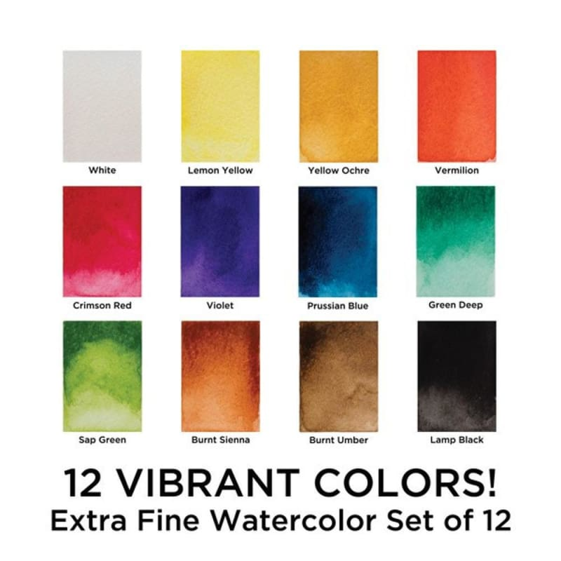 Marie's Watercolor Set, 12ml Tubes