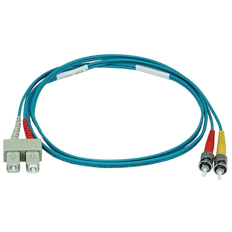 10Gb Fiber Optic Cable, ST/SC, Multi Mode, Duplex - (50/125 Type) - Aqua - Monoprice®