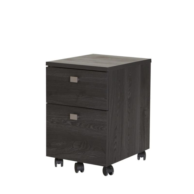South Shore Interface® 2-Drawer Mobile File Cabinet, Grey Oak