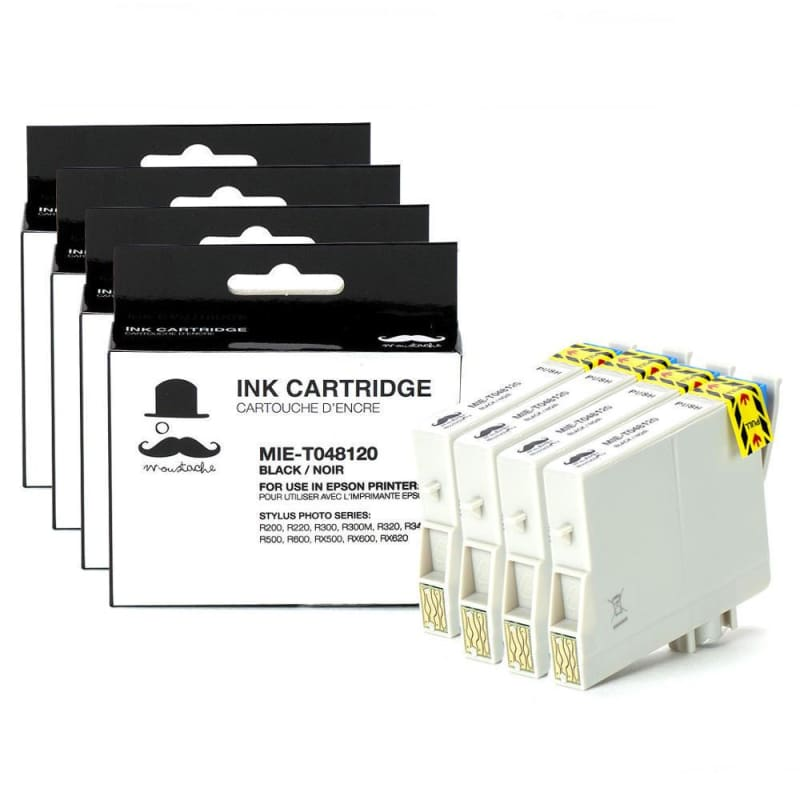 Compatible Epson T048120 Black Ink Cartridge - Moustache®