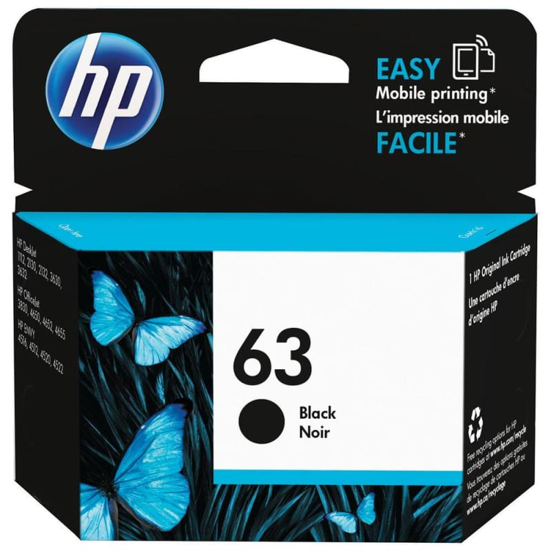 HP 63 F6U62AN Original Black Ink Cartridge