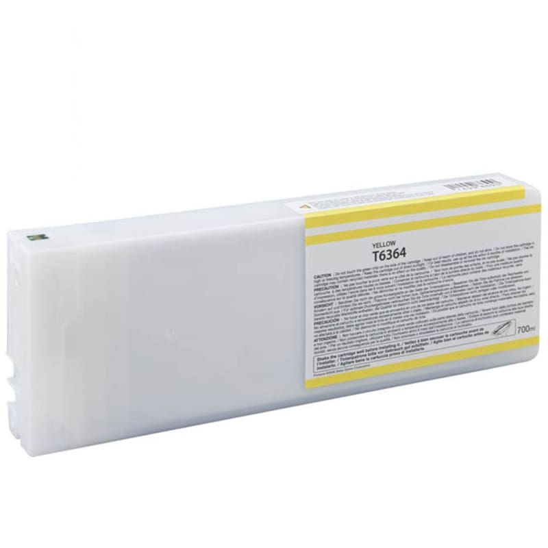 Compatible Epson T636400 700ml Yellow Ink Cartridge High Yield