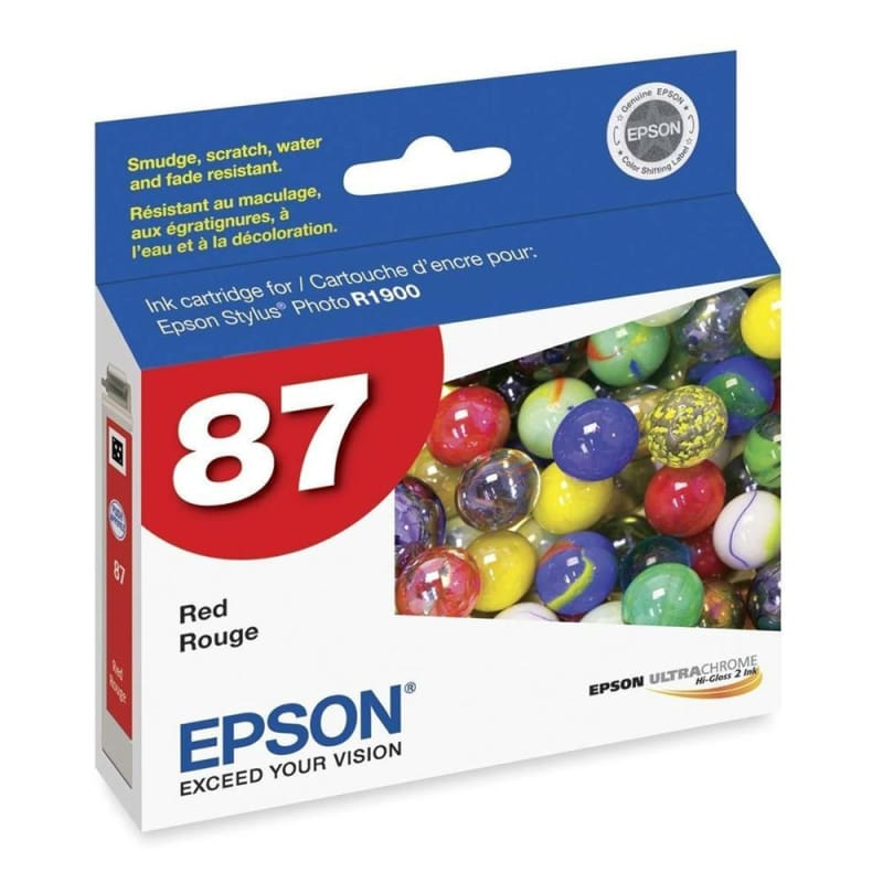Epson T087720 Original Red Ink Cartridge