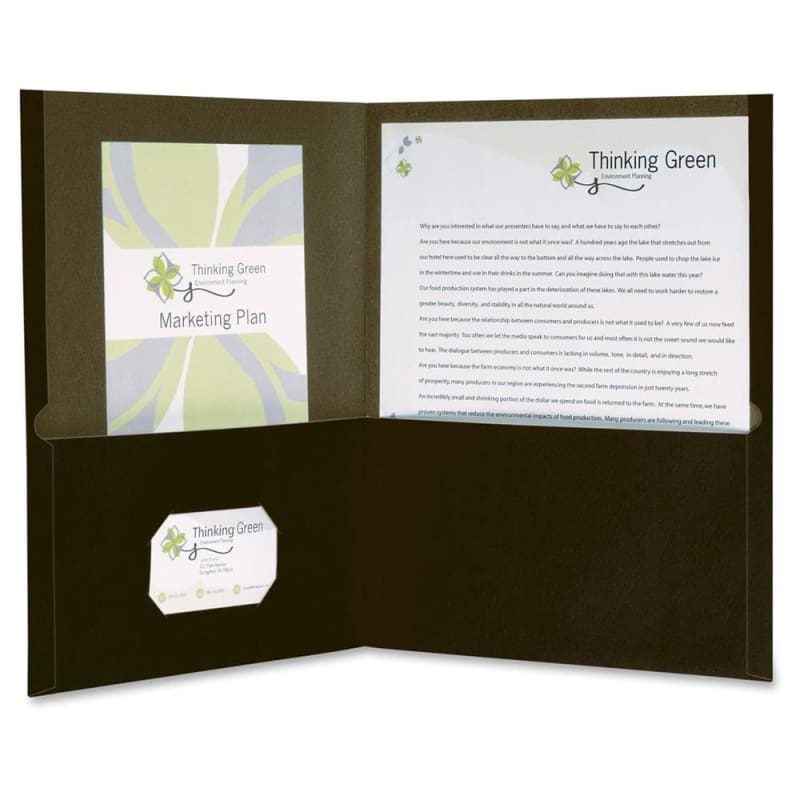 Oxford® Earthwise® 100% Recycled Twin Pocket Folders, 10 covers per pack
