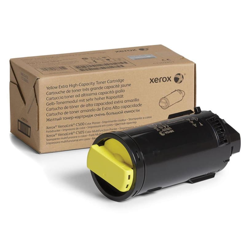 Xerox 106R03868 Original Yellow Toner Cartridge for VersaLink C500 C505 Printer Extra High Yield