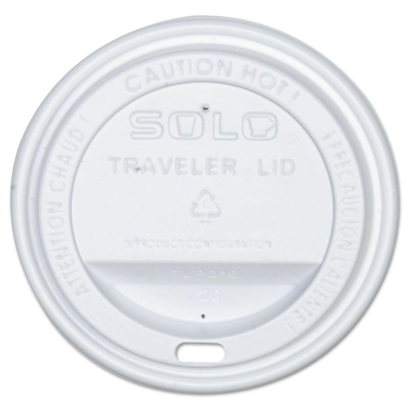 Solo White Traveler Lids for Cups - Package of 100