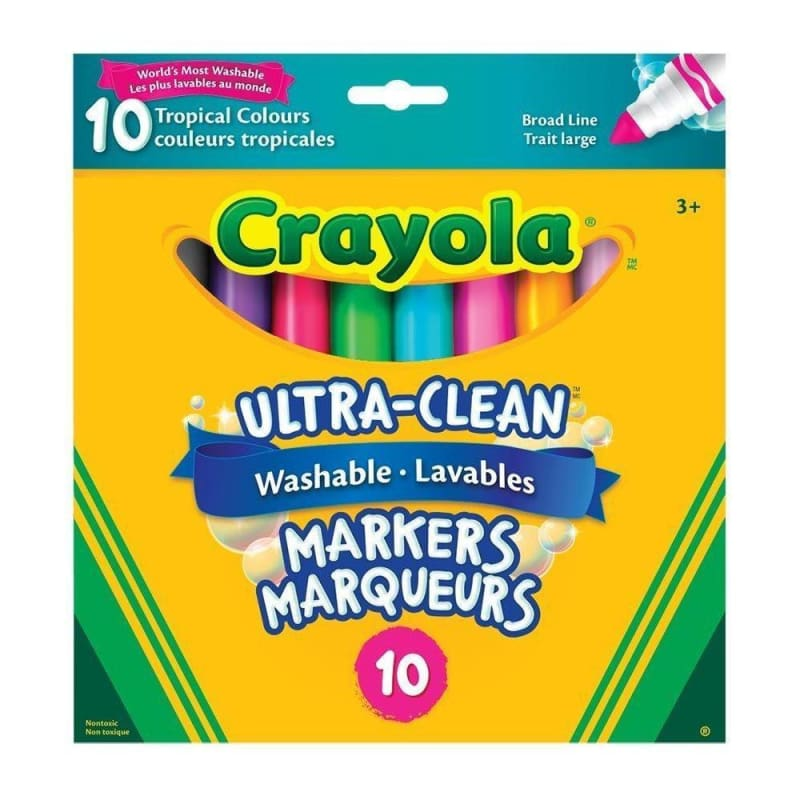 Crayola® Washable Broad Line Markers, Tropical Colours, 10ct. 318840