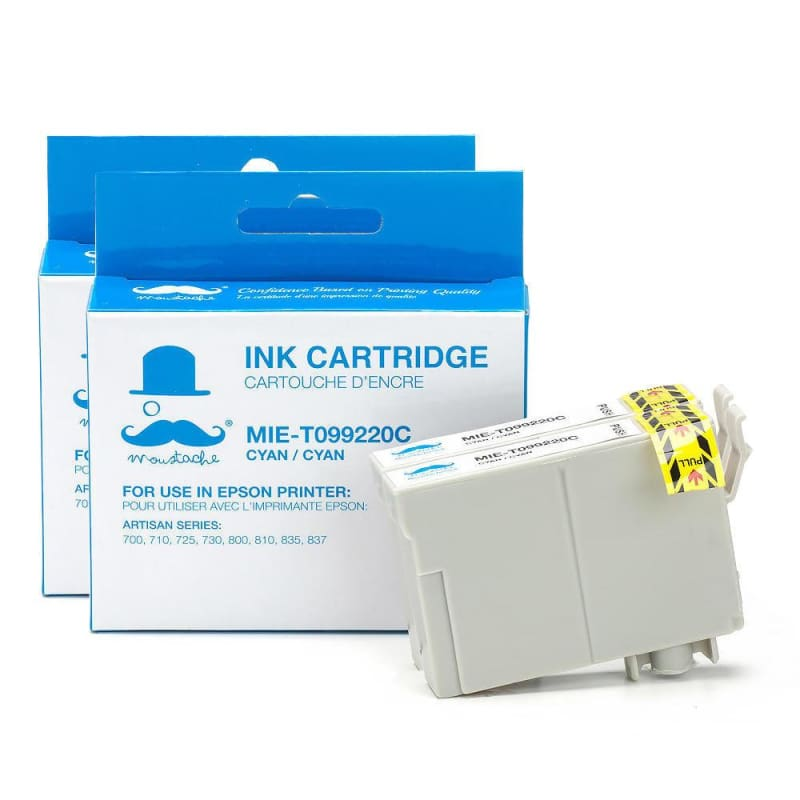 Compatible Epson 99 T099220 Cyan Ink Cartridge - Moustache®