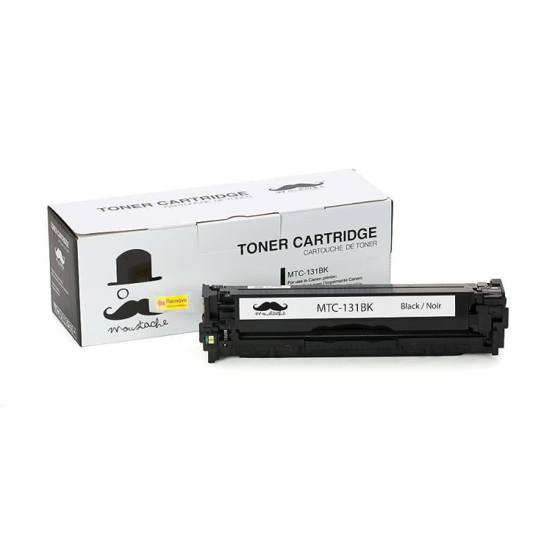 Compatible Canon 131BK 6272B001AA Black Toner Cartridge - Moustache®