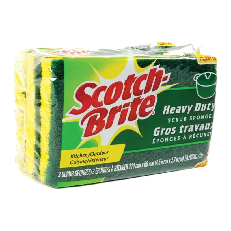 Scotch-Brite® Heavy-Duty Scrub Sponges, 3-Count 190660