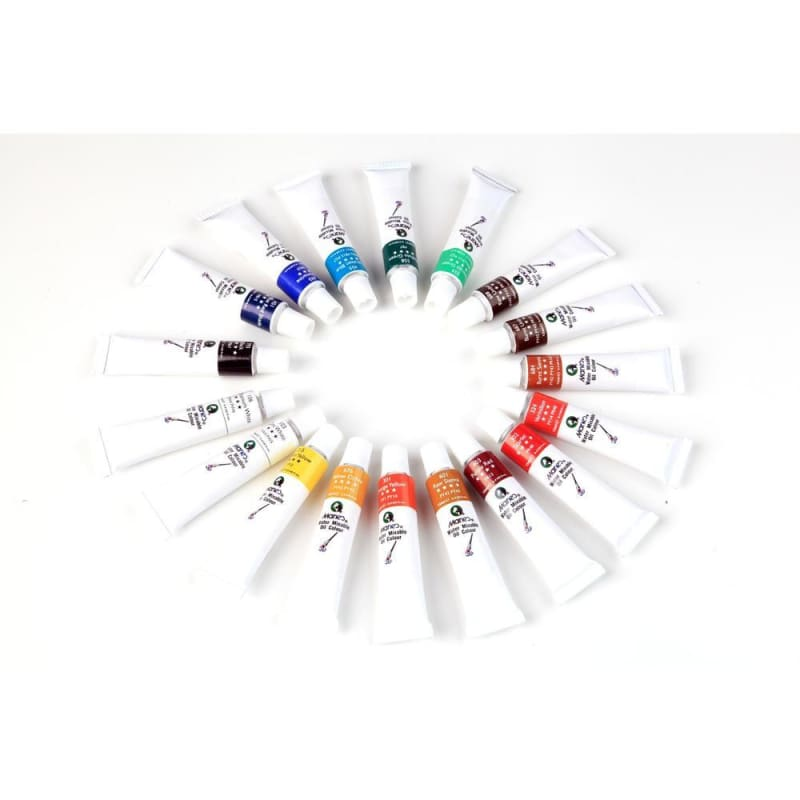 Marie's Water Mixable Oil Color Set, 12ml Tubes, 18 Assorted Colors/Box