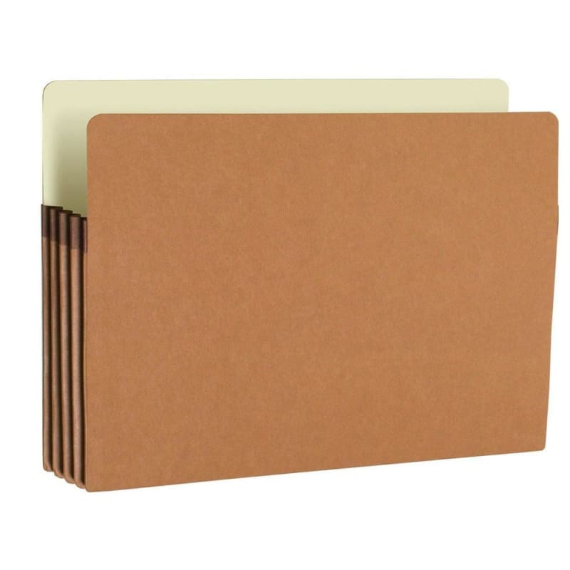 "Smead® 100% Recycled File Pockets - Letter, Expansion of 3-1/2"", 25/Pack"