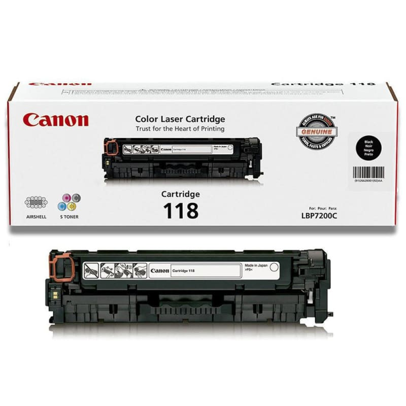 Canon 118 2662B001AA Original Black Toner Cartridge