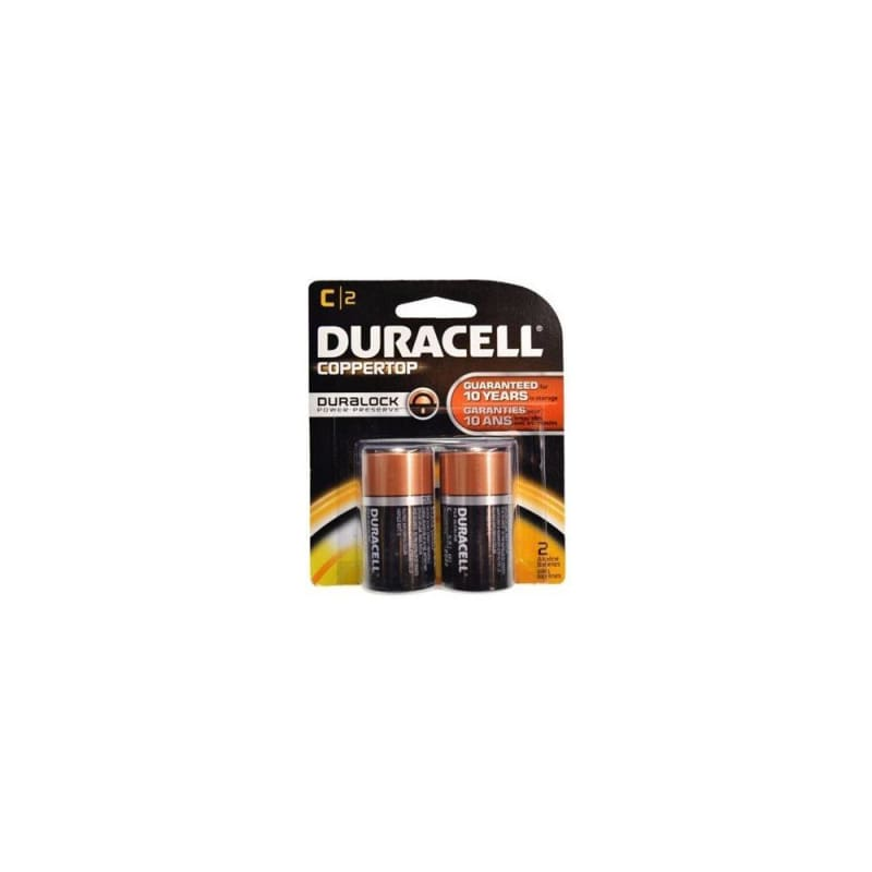 "Coppertop Alkaline ""C"" Batteries - Duracell® - 2/PACK"