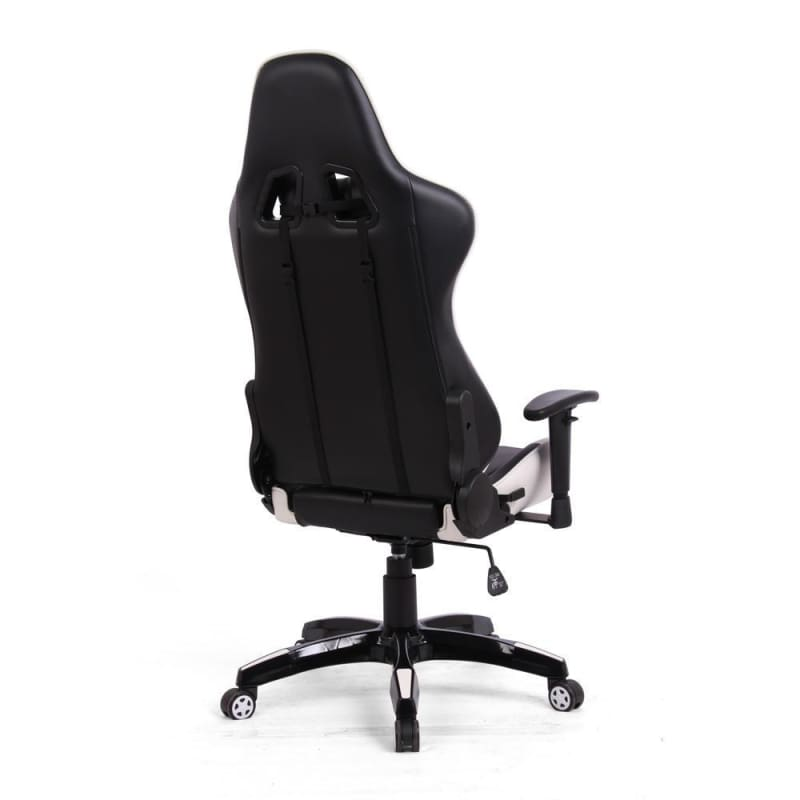 Ergonomic Racing Gaming Chair, Black and White - Moustache®