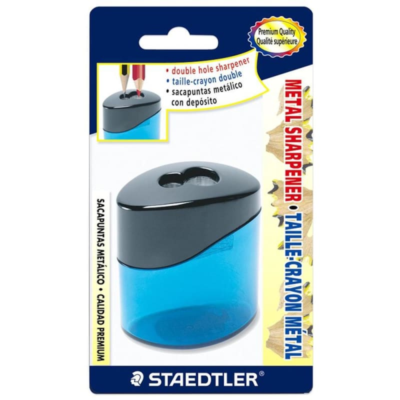 Staedtler Double Hole Metal Pencil Sharpener, Oval 617969