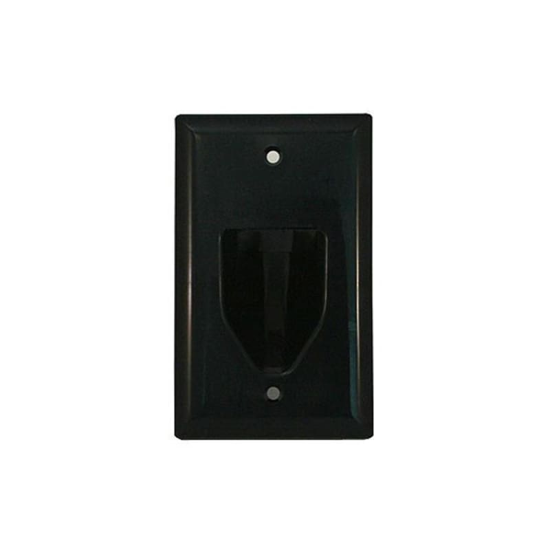 1-Gang Recessed Low Voltage Cable Wall Plate, Black - Monoprice®