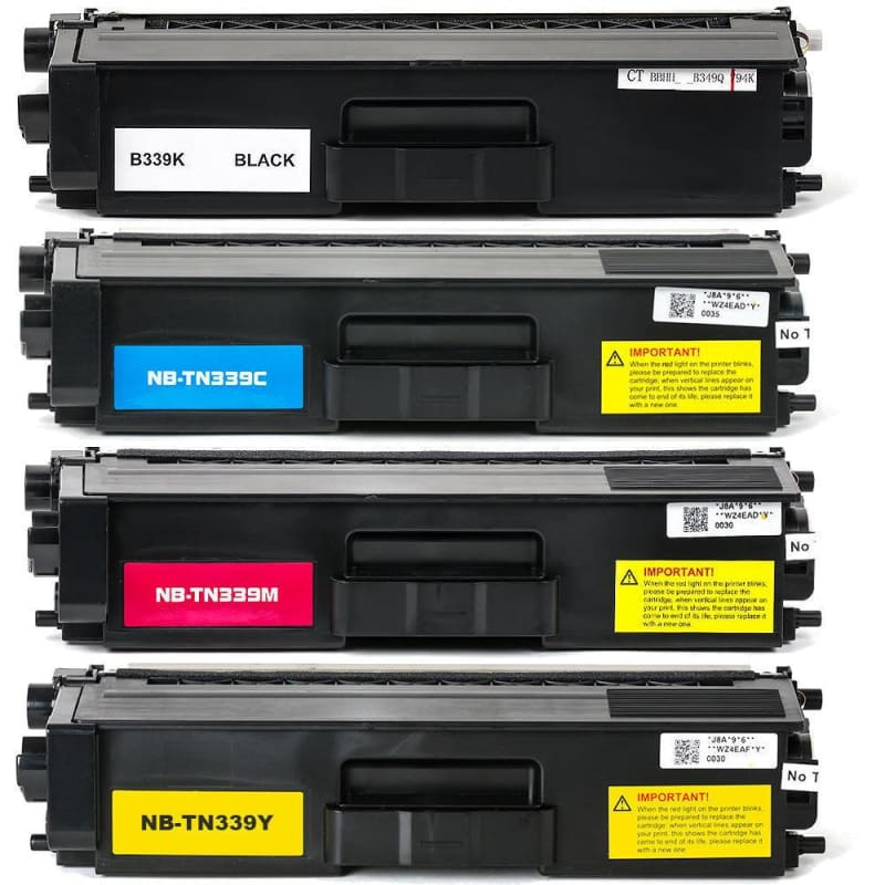 Compatible Brother TN-339 Toner Cartridge Combo Extra High Yield BK/C/M/Y