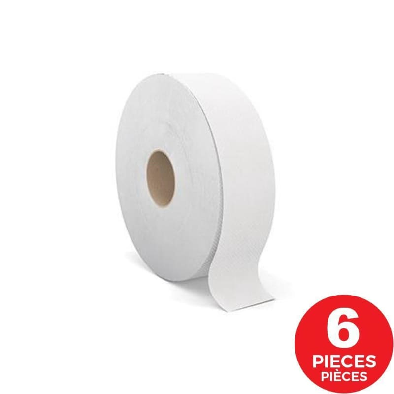 "Cascades PRO Jumbo Toilet Paper, 2 ply, 3.5"" x 1900', White, 6/Pack"