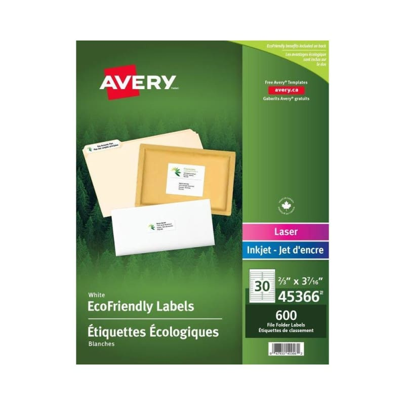 Avery® EcoFriendly File Folder Labels, 3-7/16 x 2/3""