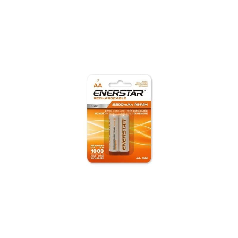 Enerstar AA Rechargeable NI-MH Batteries 2/PACK