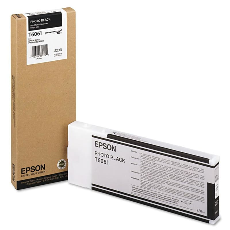Epson T606100 Original Photo Black Ink Cartridge