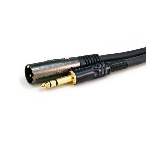 1.5ft Premier Series XLR Male to 1/4inch TRS Male 16AWG Cable (Gold Plated) - Monoprice®