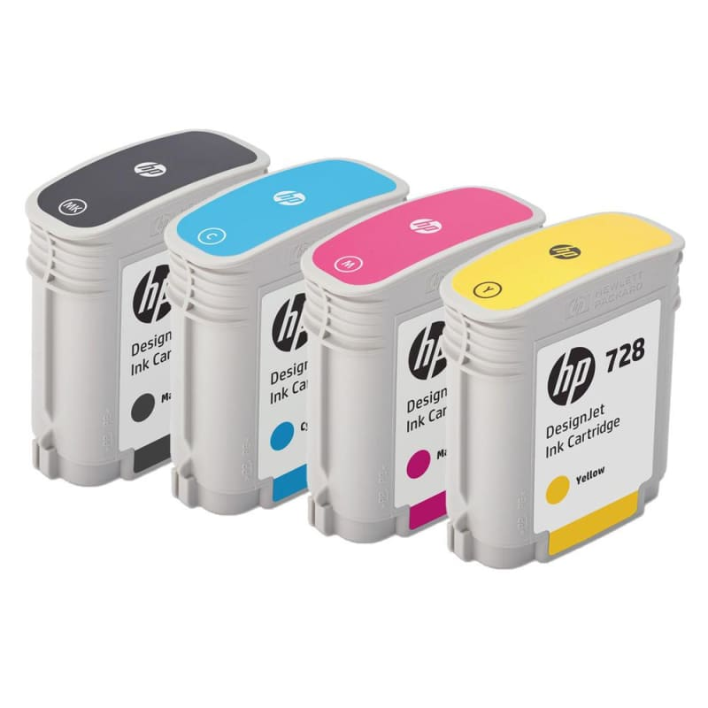 HP 728 F9J64A F9J63A F9J62A F9J61A Original Ink Cartridge Combo MBK/C/M/Y