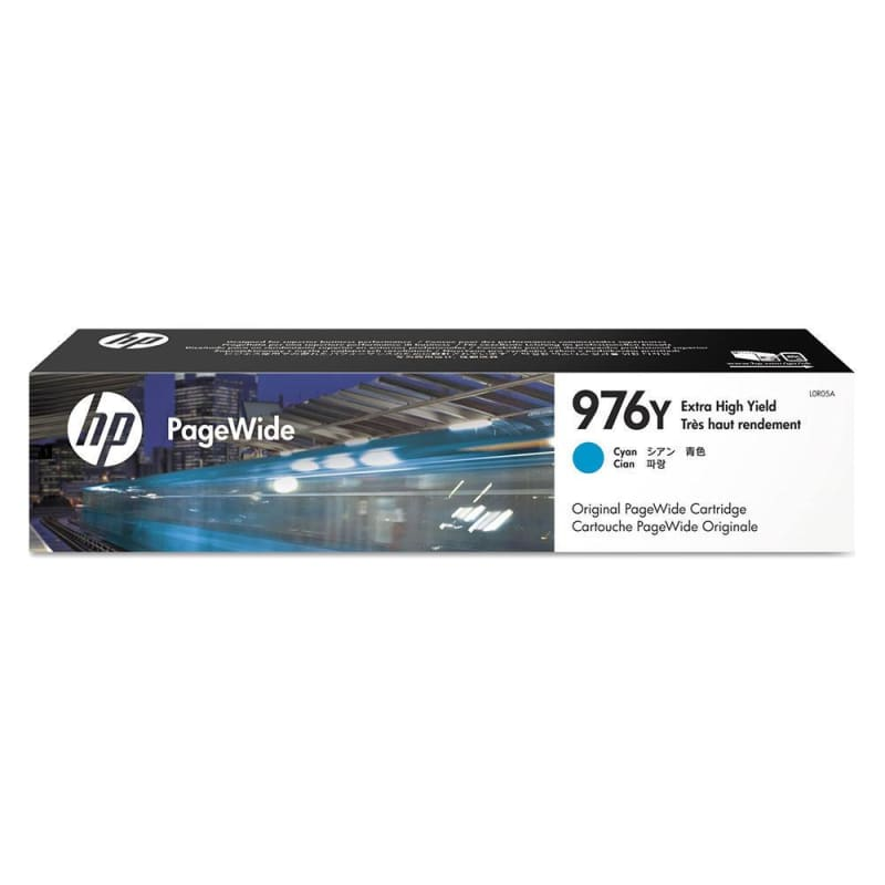 HP 976Y L0R05A Original Cyan PageWide Ink Cartridge Extra High Yield