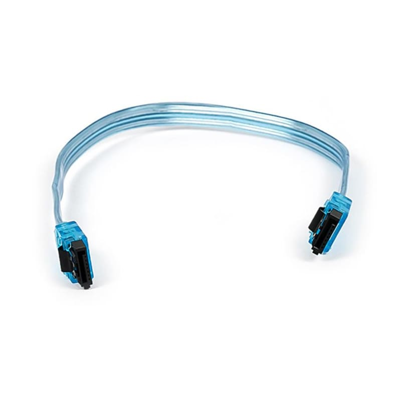 10inch SATA 6Gbps Cable w/Locking Latch - Neon Blue - Monoprice