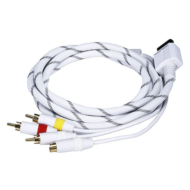 AV Cable w/ Composite (Yellow RCA)/S-Video and Stereo Audio (Red/White) for Wii & Wii U