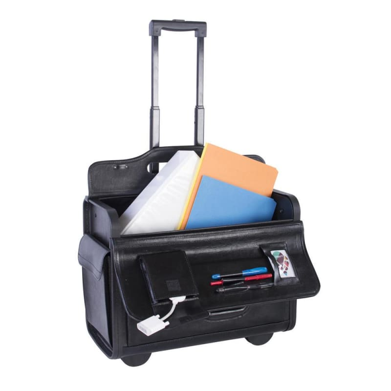 Nextech® NT0803 Sample Business Case On Wheels Leather Black 156026