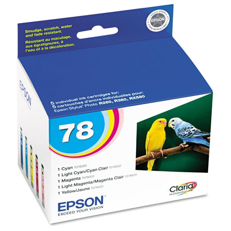 Epson 78 T078920 Original Multi-Color Ink Cartridge C/M/Y/LC/LM
