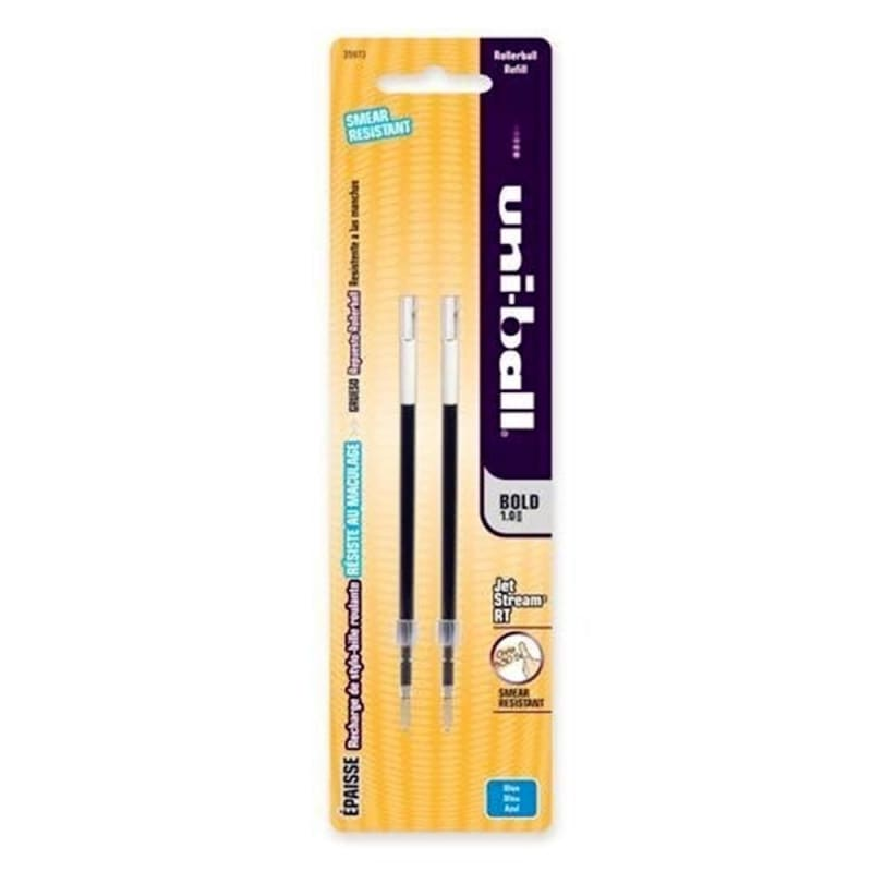 Uni-Ball® Refill for JetStream™ RT Rolling Ballpoint Pen - 1.0 mm Bold Point (Black / Blue)