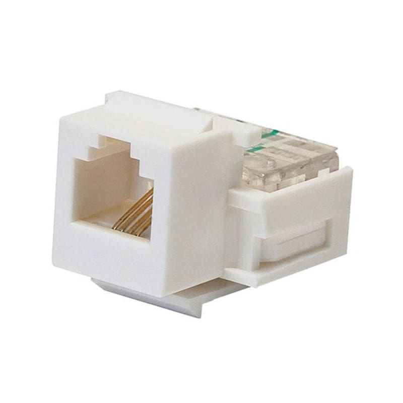 RJ11 Toolless Keystone Jack - White - Monoprice®
