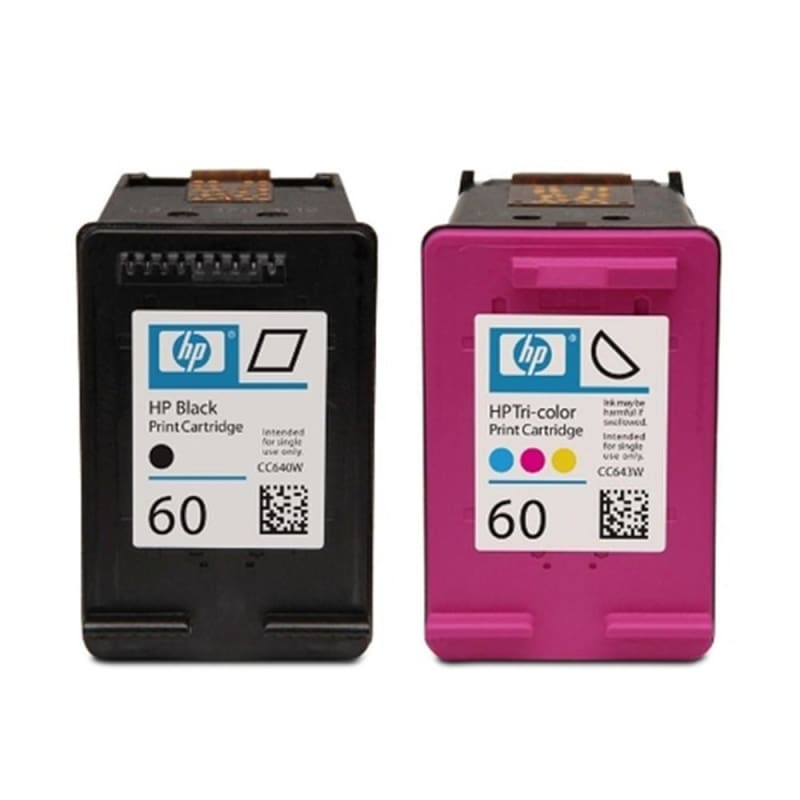 HP 60 CD947FC N9H63FN D8J23FN Original Black and Tri-color Ink Cartridge Combo