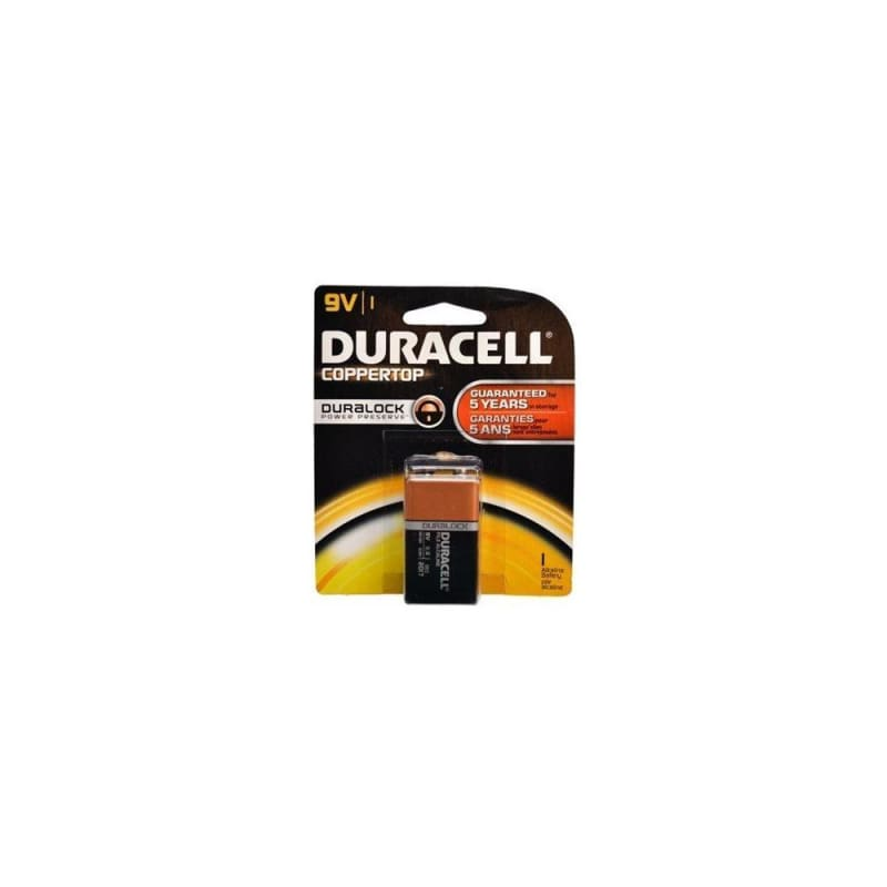 "Coppertop Alkaline ""9V"" Battery - Duracell® - 1/PACK"