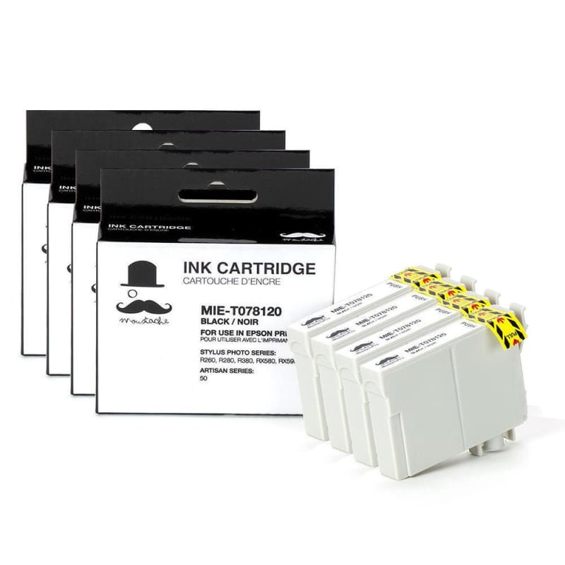 Compatible Epson 78 T078120 Black Ink Cartridge - Moustache®