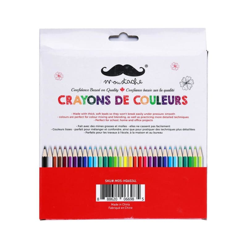 Hexagonal Color Pencils Set, 24 Assorted Colors/Box - Moustache®