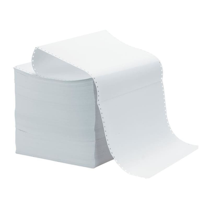 "Computer paper, 14-7/8 x 8-1/2"",Plain, no perforation, 1 copy, 30M - 3500 sheets/case"