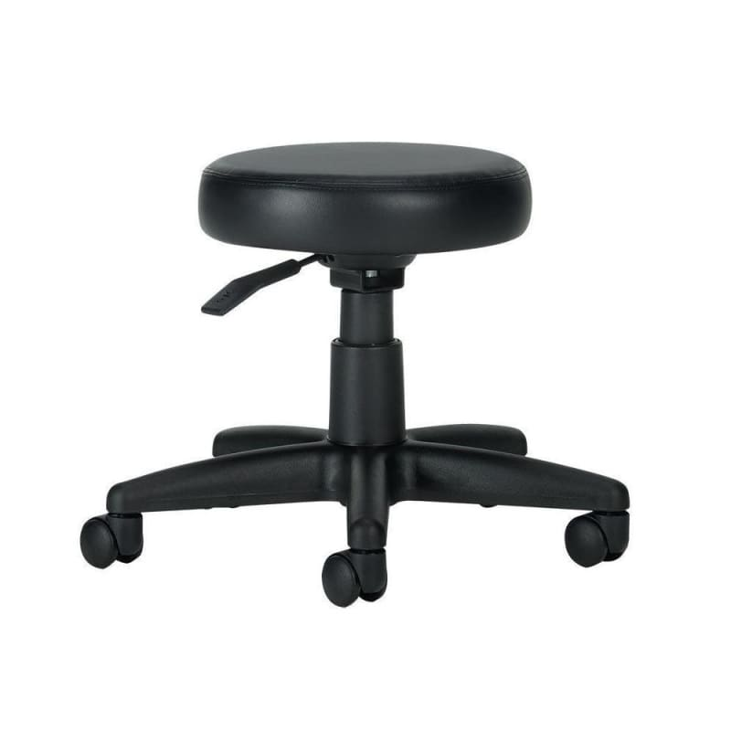 "Offices to Go™ MVL File Buddy™ Mobile Swivel Stool 5"" Lift, Black"