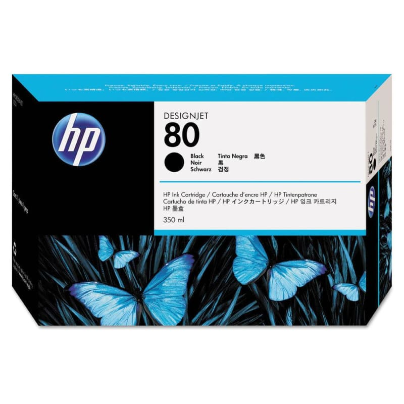 HP 80 C4871A Original Black Ink Cartridge 350ml