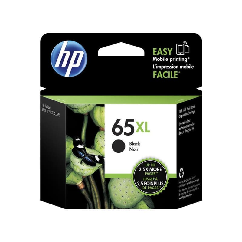 HP 65XL N9K04AN Original Black Ink Cartridge High Yield