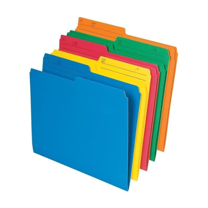 Pendaflex® Recycled Coloured Reversible File Folders, 2 Size Available, 25 folders per pack