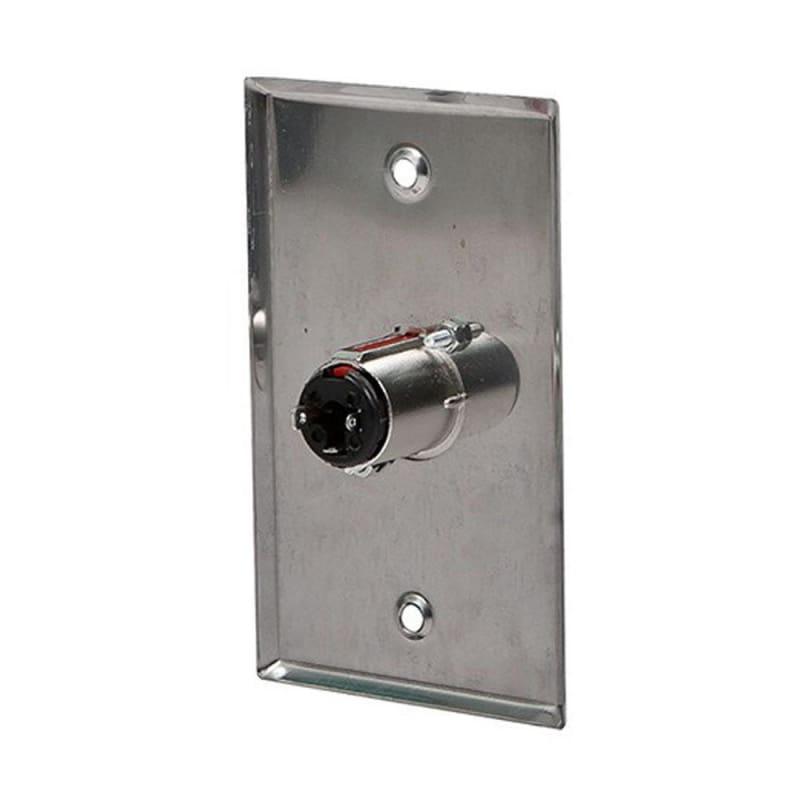 1-Port 1/4in (6.35mm) TRS Stereo Jack Zinc Alloy Wall Plate - Monoprice®