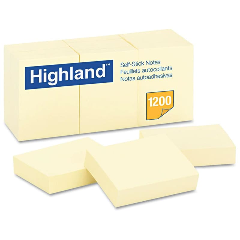 3M Highland™ Self-Sticking Note, 12/Pack 260356