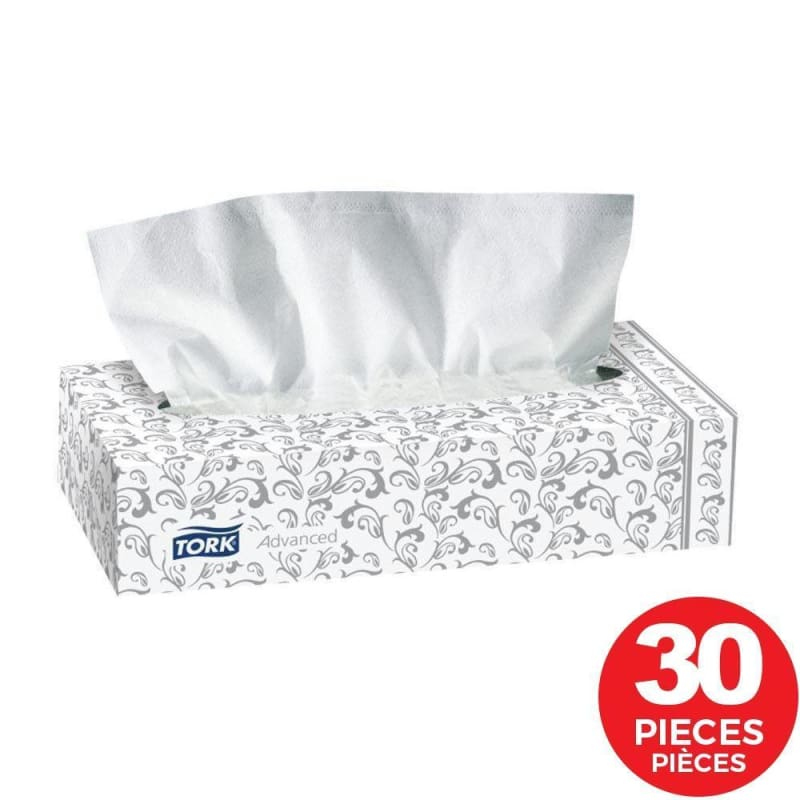 "Tork® 2-ply Facial Tissue, 8.2 x 7.9"", 100 Sheets - Pack of 30 (293233)"