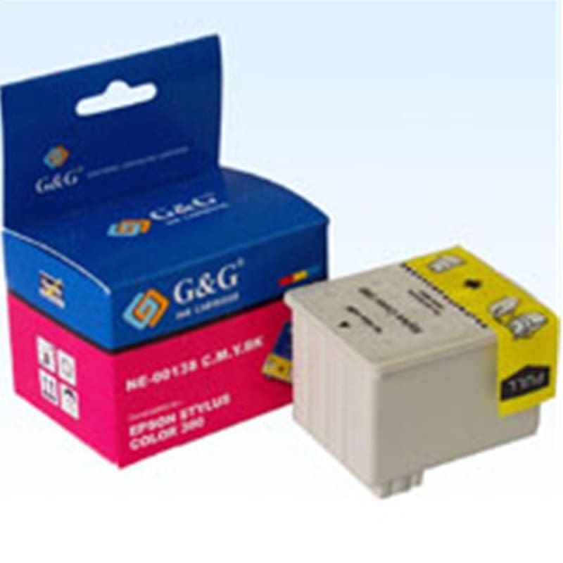 Compatible Epson S020138 Black and Color Ink Cartridge
